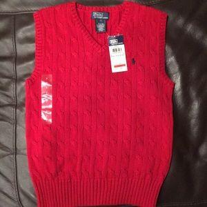 Ralph Lauren Polo sweater vest boys 7